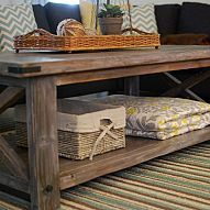 I built this coffee table from Ana White plans. It was fun to build an… :: Hometalk