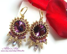 Moroccan style seed bead earrings by AllasArt on Etsy, $48.00