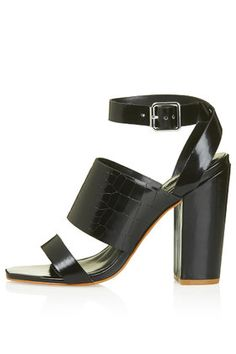 ROSCHA Croc-Effect High Sandals
