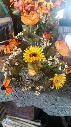 Fall silk floral arrangement