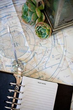 pilot book guest book // photo by Yuliya M. Photography