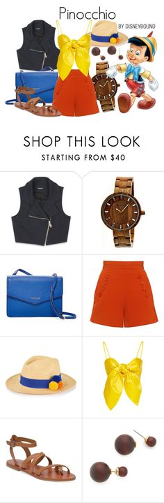"""""""Pinocchio"""" by leslieakay ❤ liked on Polyvore featuring Bebe, Earth, Cole Haan, Finders Keepers, Prymal, Leal Daccarett, Lucky Brand, Kenneth Jay Lane, disney and disneybound"""