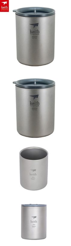 Camping Kettles 181384: Keith Ti82 Titanium Cup Camping Cup Double-Wall Mug Vacuum Cup 450Ml Ti3340 -> BUY IT NOW ONLY: $47.9 on eBay!