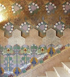 Lluís Brú i Salelles (1868-1952) Mosaicist and modernist designer.  Lleó i Morera House, he worked on ceramics and mosaics for the stairway and the main floor.