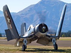 This Corsair wishes it was back on a carrier.  Type: Goodyear FG-1D Corsair  Registration: NZ5648/ZK-COR  Location: Wanaka Airport  Date: 23/03/2008