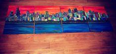 Chicago Skyline Painting – Simply Taralynn
