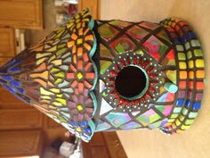 My newest and favorite mosaic birdhouse
