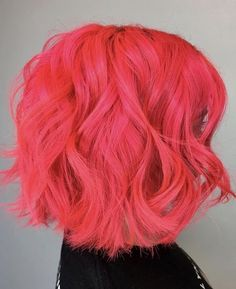 Bubblegum Rose Hair Color (Warm Rose Pink) - Hairstyles For All Rose Hair Color, Hair Dye Colors, Pink Color, Peach Hair, Pink Hair, Fantasy Hair Color, Semi Permanent Hair Color, Demi Permanent, Short Hair Styles