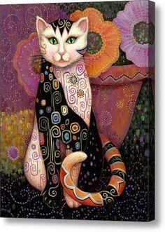 sort of klimt cat. I Love Cats, Crazy Cats, Cat Embroidery, Subject Of Art, Frida Art, Cat Quilt, Cat Colors, Cat Drawing, Cat Art