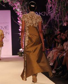 Dark Olive Silk Kurta- Buy Summer Affair '14 Online   manishmalhotra.in