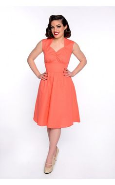Maxine Dress in Coral Pink