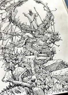 """Sketchbook: Forest, er, portal thing. http://t.co/DXgt8niV0p"""
