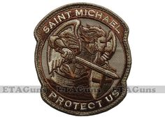 I wear the same one on my vest, but in Blue Police Gear, Military Gear, Saint Michael, Tactical Patches, Tactical Gear, Airsoft, Cool Patches, Funny Patches, Tac Gear