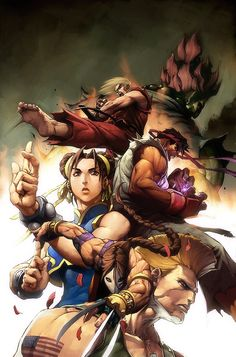 Street fighter cover - Alvin Lee, began his artistic journey the moment his tiny hand could hold a brush. That same hand was beckoned into the world of comic books at the age of eventually maturing into an internationally renowned veteran. Vega Street Fighter, Street Fighter Tekken, Super Street Fighter, Comic Manga, Comic Art, Street Fighter Hadouken, Street Fighter Characters, New Challenger, Art Anime