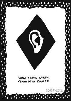 Herkkien korvien tehtäväkortit. Kortti 1: Jutelkaa ryhmässä kuulemisesta ja kuuntelemisesta. Mitä herkät korvat tarkoittaa? Kokeilkaa kuuntelemista erilaisten esineiden, kuten simpukka, mehusuppilo, kanssa. Mitä mielenkiintoista voi kuullakaan? Lataa...