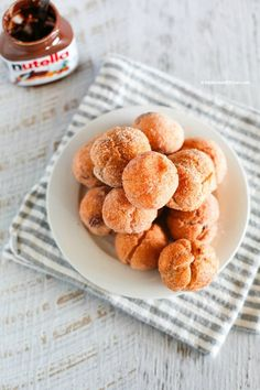 Nutella + Mochi + Donut Holes = Bomb! This combination makes a super delicious chewy gooey nutella mochi donut holes! | MyKoreanKitchen.com