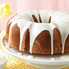 Almond Pound Cake This super-rich and buttery dessert is a treat for birthdays or Christmas. The cream cheese and almond glaze is the icing on the cake.