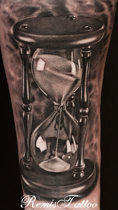 hourglass tattoo black and grey by Remistattoo.deviantart.com on @deviantART