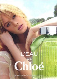 """Camille Rowe for """"L'eau de Chloé"""""""