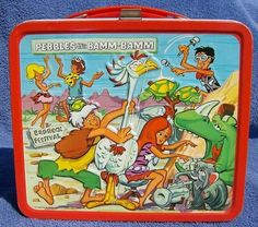 Pebbles and Bamm Bamm Vintage 1971 Lunch Box - I had this in first grade!! New school year, new lunch box. I always broke the glass insulated thermos :(