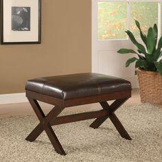 19.3-inch Bronson Brown Bench