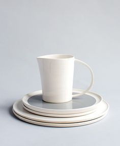 Handcrafted ceramic jug and serving ware by Bruce Rowe ofAnchor Ceramics. Photo -Sean Fennessy.