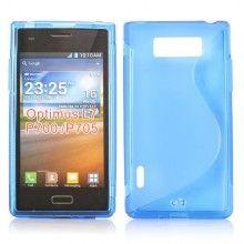 Custodia LG Optimus L7 SLine MiniGel - Azzurro  € 3,99