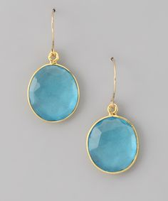 Gold & Sky Blue Quartz Cabo Drop Earrings by Amelia Rose Design on #zulily