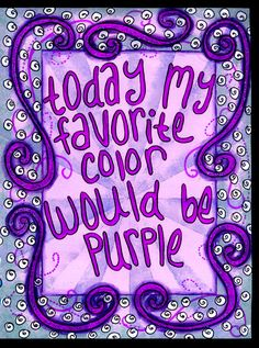 Pick a color. Today my favorite color is purple. Magenta, Purple Lilac, Shades Of Purple, Deep Purple, Periwinkle, 50 Shades, Purple Love, All Things Purple, Red And Blue