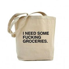 While I would never actually carry a bag with the F-word on it, this is quite hilarious to me...  :)