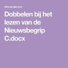 Dobbelen bij het lezen van de Nieuwsbegrip C.docx Spelling, Montessori