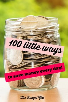 little ways to save money every day