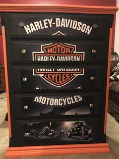 Harley Davidson Bedding, Harley Davidson Decals, Harley Davidson Posters, Harley Davidson Motor, Davidson Homes, Bike Wedding, Diy Furniture Renovation, Bar Interior Design, Diy For Men