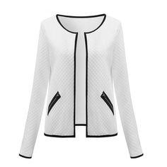 Dmart7deal Plus Size Spring Autumn Plaid Women Thin Coats Short Jackets Casual Slim Blazers Suit Cardigans Female Outwear Black White