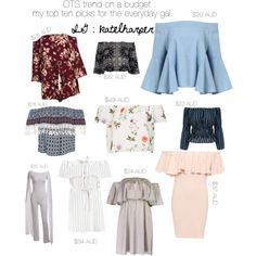 Off Shoulder Trend Under $50 for the everyday gal. by katelaurenn on Polyvore featuring polyvore, fashion, style, Boohoo, WearAll, Sans Souci, Topshop, WithChic and clothing