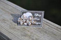 Rose Emblem Earrings in Clear by Tiffany Rose Designs
