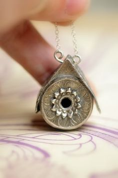 Fancy Wren Birdhouse Pendant by Christi Anderson -- absolutely charming!