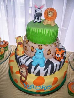 Born to be Wild. Monster Birthday Parties, Birthday Fun, Safari Party, Safari Theme, Baby Shower Themes, Baby Boy Shower, Safari Cakes, Child Day, 1st Birthdays