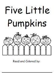 Free book of 5 Little Pumpkins