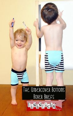 Oh. My. Adorableness.  Boxer brief pattern for boys.  With instructions to make them trainers.