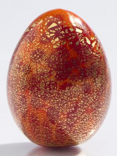 Murano Glass Egg - Red/Orange, Decorative Glass, Home Furnishings - The Museum Shop of The Art Institute of Chicago