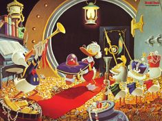 Donald Duck and Uncle Scrooge - Much Ado About the Dime by Carl Barks