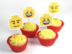 LEGO Cake Toppers - free printable!