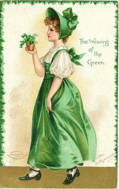 Such a charmingly lovely Edwardian St. Patrick's Day postcard (art by Ellen H. Clapsaddle).