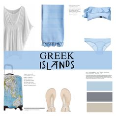 """""""Pack and go: Greek Islands"""" by flytotheworld ❤ liked on Polyvore featuring Linum Home Textiles, Heys, Lisa Marie Fernandez, H&M, Packandgo and greekislands"""