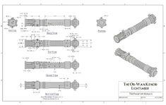 starkiller lightsaber blueprint - Recherche Google