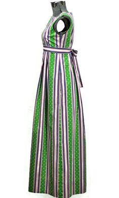 Mint Candy 1960 Boho Saks Fifth Ave. Cotton Dress #fashion #vintage #maxidress #saksfifth