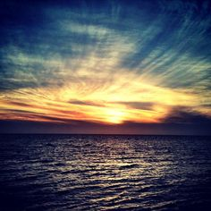 Sunset over the Pamlico Sound - Photo by logan_duhhh