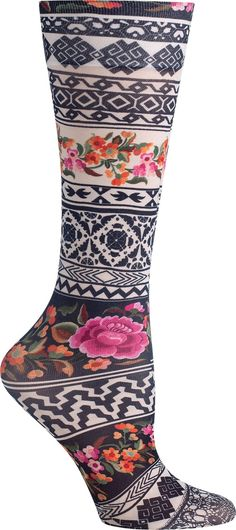 Women's Stylish Compression Socks: These stylish knee-high socks have 8-15 mmHg mild gradient compression to help alleviate discomfort from spider veins and varicose veins, minor leg swelling, and achy legs while traveling, working, walking, or sitting.
