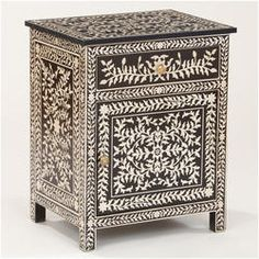 Spider India - offering Vintage Teak Bone Inlay Bedside Table at Rs in Jodhpur, Rajasthan. Get best price and read about company and get contact details and address. Design Furniture, Painted Furniture, Living Room Furniture, Home Furniture, Funky Furniture, Side Tables Bedroom, Antique Sideboard, Beautiful Bedrooms, Decoration